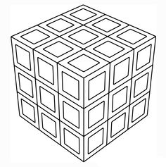 3d coloring pages coloring pages. printable. 3d geometric coloring ...