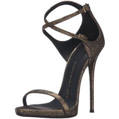 Giuseppe Zanotti Women's Dress Sandal ($695) ❤ liked on Polyvore featuring shoes, sandals, heels, sapatos, slip on sandals, slip on heels shoes, pull on shoes, giuseppe zanotti shoes and slip-on shoes