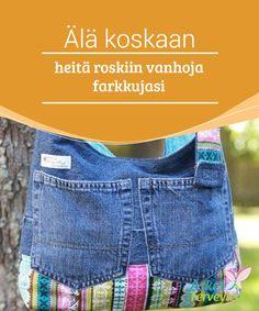 Älä koskaan heitä roskiin vanhoja farkkujasi   Vanhojen #farkkujen taskut voi käyttää uudelleen tekemällä niistä #käytännöllisiä lompakkoja tai eri tyyppisten tavaroiden #säilytyspaikkoja.  #Mielenkiintoistatietoa
