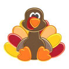Cute Turkey Applique