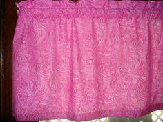 Purple Lavender Swirl fabric curtain topper Valance #Handmade