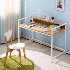 Simple desktop computer desk home office desk wood desk study tables minimalist modern notebook combination