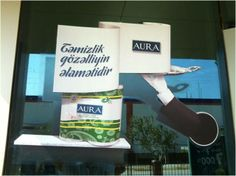 This 3D Window graphic was designed and installed by us across Turkey for Aura to help them promote their range of Tissues.