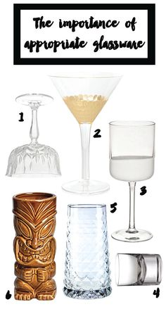 The importance of appropriate glassware for home cocktails