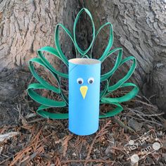Preschool animal crafts like this Toilet Paper Roll Peacock are just too cute to miss! Definitely going to try this one.
