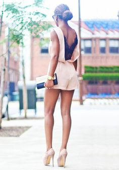 Jumpsuits and Rompers - V-Back Double Layer and Ruffled Sleeves Rompers | LookBookStore | Lookbook Store