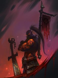 World of Warcraft Orc For the Horde Warcraft Dota, Warcraft Heroes, Warcraft Legion, World Of Warcraft Characters, Fantasy Characters, Samurai Jack, Medieval Fantasy, Dark Fantasy, Pandaren Monk