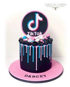 Pj Masks Birthday Cake, 14th Birthday Cakes, Unique Birthday Cakes, Birthday Cake Girls, Purple Birthday Cakes, 13th Birthday, Piano Cakes, Teen Cakes, Drip Cakes