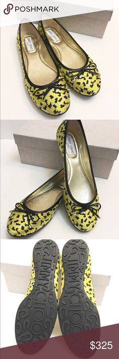 🆕NIB Jimmy Choo floral print jacquard flats/shoes Brand new in box!!! Never worn. Beautiful Jimmy Choo shoes! Come with the original box (has some marks and stains on the box only due to storage. Shoes are perfectly new.) Dust bag not included. Wrapped with jimmy choo logo paper. Size 38.5.          ❌no trade ❌no lowballing offers!!! Jimmy Choo Shoes
