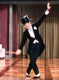 "Fred Astaire dancing to the tune ""Puttin' on the Ritz""- inspired by the swanky Ritz Hotel"