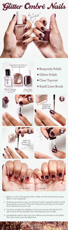 Glitter Ombre Nails DIY – Inspired by The Great Gatsby