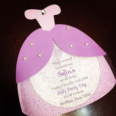 If youre looking for a cool Sofia the First Birthday Dress Party Invitation this is THE ONE!    We can also do them for a princess theme or for