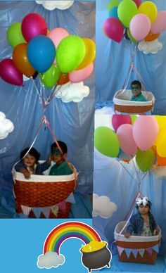 Globos aerostaticos balloon birthday party ideas - Imagenes de fiestas de cumpleanos ...