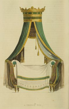 Regency Furniture 1816 -1822: French Bed, Ackermann's Repository Series 2
