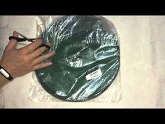 Folding Round Metal Frame Nylon Mesh Crab Fish Net Fishing Landing Net Green | Dan Unboxing