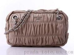 Discount #Prada BT0802 Handbags in Light Gray onnline sale