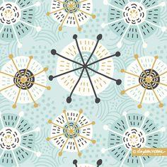 Objectivity Collection // Surface Pattern Design by Beth Schneider - Elizabeth Victoria Designs Textiles, Textile Patterns, Color Patterns, Print Patterns, Pattern Designs, Retro Pattern, Floral Patterns, Showcase Design, Pattern Illustration