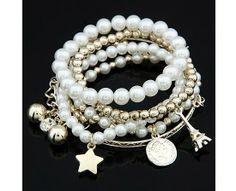 Bransoletki multi perły
