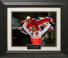 Lewis Hamilton Photo Matted and Framed