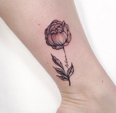 A Simple peony tattoo with dull orange is all you need, if you are a person with some decent looks and deep thoughts.