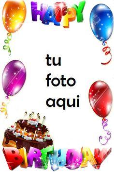 Happy Birthday Wishes Photos, Happy Birthday Blue, Birthday Wishes Greetings, Happy Birthday Frame, Happy Birthday Wishes Images, Birthday Frames, Happy Birthday Cards, Free Birthday, Birthday Photo Frame