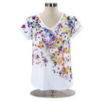 Watercolor Floral Top