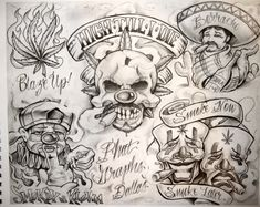 Boog Tattoo Artwork Choosing The Right For You Boog Tattoo, Payasa Tattoo, Clown Tattoo, Inca Tattoo, Chicano Tattoos, Chicano Drawings, Gangsta Tattoos, Flash Art Tattoos, Body Art Tattoos