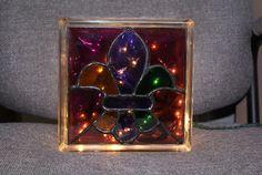 Fleur-de-Lis Stained Glass Light Box