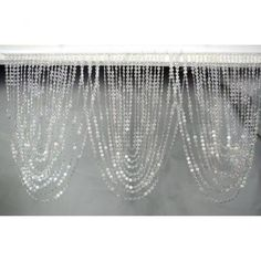 Acrylic Diamond Cut Swag Beaded Curtain Headers--cool but they weigh TEN POUNDS! ($33)