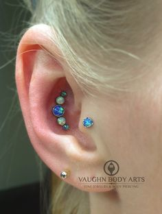 Conch piercing done by APP member Cody Vaughn at Vaughn Body Arts in Monterey, California.