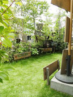 【リフォーム実例】自宅の庭に「リアルな人工芝」を敷いて完全リフォーム! アメリカ雑貨のテーマパーク!キャンディタワー