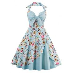 SHARE & Get it FREE | Halter Floral Print Pin Up DressFor Fashion Lovers only:80,000+ Items·FREE SHIPPING Join Dresslily: Get YOUR $50 NOW!