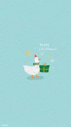Christmas Duck, Merry Christmas Card, Christmas Gift Box, Christmas Mood, Christmas Animals, Green Christmas, Cute Christmas Wallpaper, Christmas Background, Duck Wallpaper