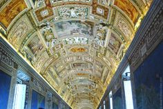Ceiling in the Gallery of Maps, Vatican Museums, Rome