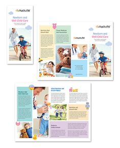 Child Care Specialists Tri Fold Brochure Template Http://www.dlayouts.com