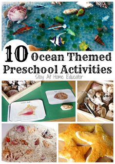 Ocean themed preschool activities - Stay At Home Educator