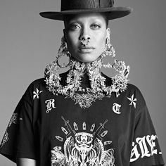 Erykah Badu in Givenchy. @thecoveteur