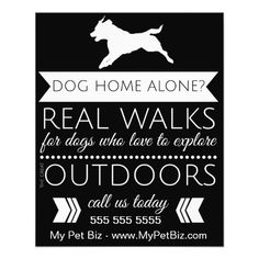 Dog walking, Flyers and Flyer template on Pinterest Dog Walker Flyer - Personalizable