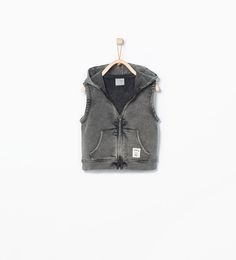 Image 2 of Hooded plush vest from Zara