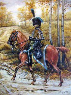 2nd Hussar Regiment, officer.   (Гусары. Кавалерия золотого века.)