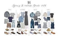 Spring Wardrobe Guide! What to wear for family photos. Neutrals neutrals neutrals! Family photos 2017 - family outfit ideas!