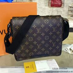 cc9ca7b95abd Louis Vuitton M40935 District PM Messenger Bag Monogram Macassar Canvas  Louis Vuitton Messenger Bag