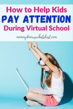 Are your kids in virtual school or cyber school? Learn how to help kids pay attention while in virtual school or cyber school at home. | tips for virtual school | help kids pay attention | tips for school Parenting Teens, Kids And Parenting, Parenting Hacks, After School Routine, School Routines, School Week, Back To School, School Tips, Pregnancy Care