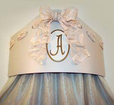 Monogrammed bed crown