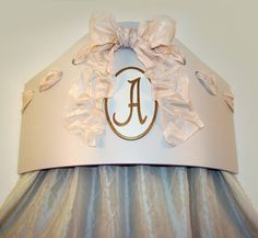 Monogrammed bed crown