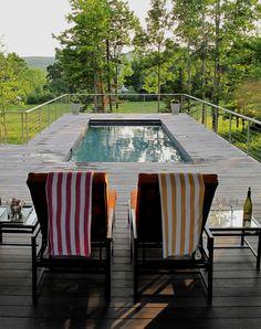 zwembad hek ideeën met deur naar buiten