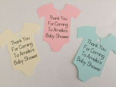 Personalised Baby Shower Thank You Tags Available In Blue Pink Cream White or Yellow