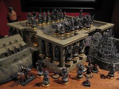LOTR Chess Set for my future Hobbit hole. Get yours at  www.chessbazaar.com