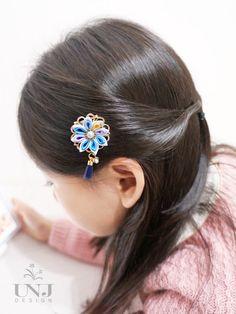 Japanese kanzashi flower hairclips Girls hairaccessories