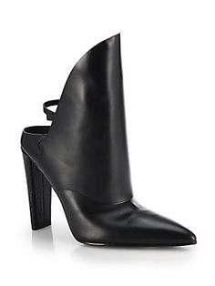 Alexander Wang Lys Point-Toe Leather Mules $795.00